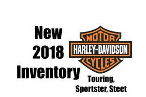 2018 Harley-Davidson Inventory Touring Sportster Street Models