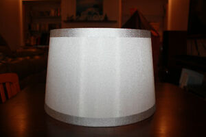 White and Silver lampshade