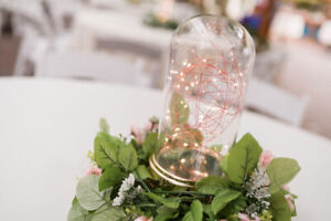 LED GLASS CLOCHE (LAMPS AND/OR CENTREPIECES)