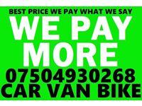 07504930268 CAR VAN BIKE SELL MY BUY YOUR SCRAP FOR CASH Now