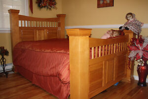 solid birch bed