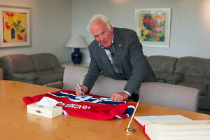 Autographed Henri Richard Montreal Canadiens Hockey Jersey