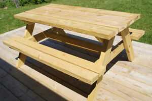 6' Hand Crafted 2x6 Cedar or Pressure Treated Picnic Table London Ontario image 6