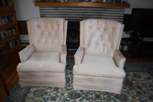 Swivel rocking chairs