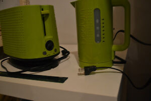 Bodum BISTRO Kettle and Toaster Set Olive Green