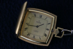 **VINTAGE** Elgin, Gold-Plated Pocket Watch, Swiss Made