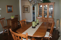 Solid Oak Dinning Room Set