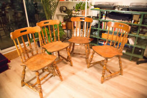 Solid wood chairs (Set of 4)