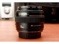 Canon EF 50mm f/1.4 USM Lens - boxed