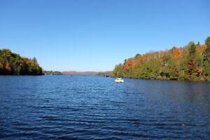 Maison, Chalet, a louer, bord du lac, bord de l'eau, laurentide,