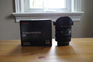sigma 10-20mm f/3.5 ex dc hsm - nikon fit wide angle lens.