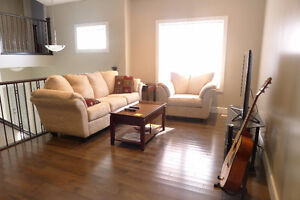 New house furnished bedroom for rent available from Oct. 1