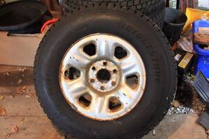 LT265/70R17 snow tires on 6 bolt GM rims