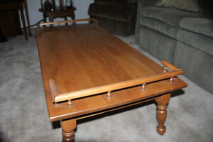 Solid Maple Coffee Table & 2 End Tables