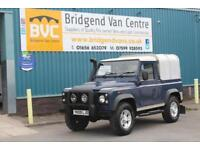 2009 LAND ROVER DEFENDER 90 2.4 TDCI 122 BHP SWB DIESEL 6 SPEED MANUAL PICK UP,