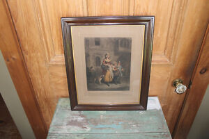 Old Framed Print - Cries of London #1 London Ontario image 1