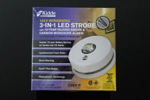 120 VOLT INTEGRATED 3-IN-1 LED STROBE / VOICE WARNING