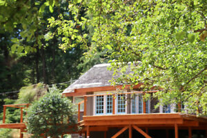 Gambier Island Getaway - Home, Cabin, Sauna, Koi Pond