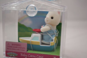 New! Calico Critters Cat in Boat - Chat dans bateau Neuf!