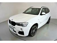 2015 BMW X3 3.0 XDRIVE35D M SPORT 5d 309 BHP-M SPORT PLUS PACKAGE-DAB RADIO-BLUE