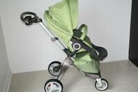 Stokke Xplory Light Green and Accessories in Amazing Condition