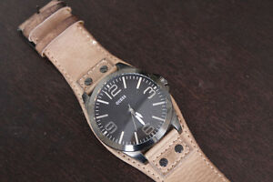 Genuine Leather Men's Guess Watch