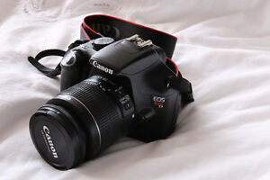 Canon Rebel t3 DSLR with 18-55mm kit lens
