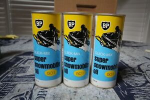 BP SUPER QUICK-MIX SNOWMOBILE  OIL TIN CAN NICE GRAPHICS