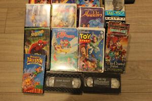 VHS KIDS MOVIES LION KING, ALADDIN,SPIDER MAN