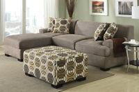BRAND NEW!  Sandstone or Ash Black MODULAR Sofa Set