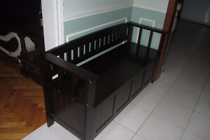 Solid Wood Hallway Bench with Storage