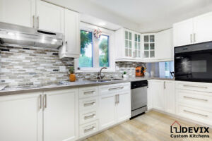 Custom Kitchens, Cabinet Refacing, and Quartz countertops