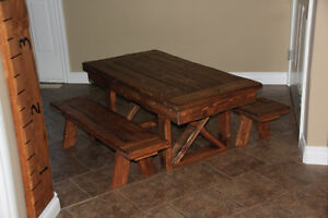 Custom Made Rustic Furniture (Toddler Tables, Benches, Etc) Strathcona County Edmonton Area image 2
