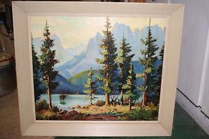 Moose Landscape  Original Painting by C. Mead