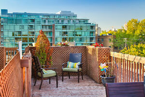 4.5 w/private rooftop terrace near Lachine Canal/Atwater Market