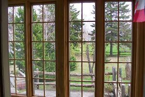 Fenêtre  en bois  42 po large x 64 po haut