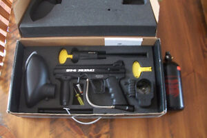 BT-4 ERC Paintball gun with 80 dollar compressed air tank