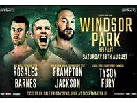 Frampton Fury Windsor Park 18/08/2018 4 x Pitchside Tickets