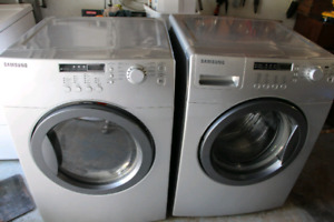 Samsumg front load washer and dryer pair. Sold, ppu