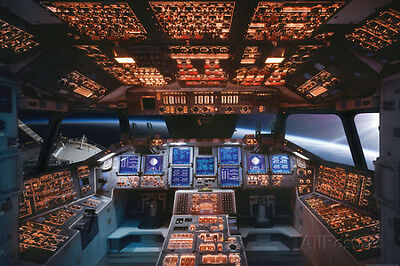 Space Shuttle Cockpit Columbia Poster Print, 36x24