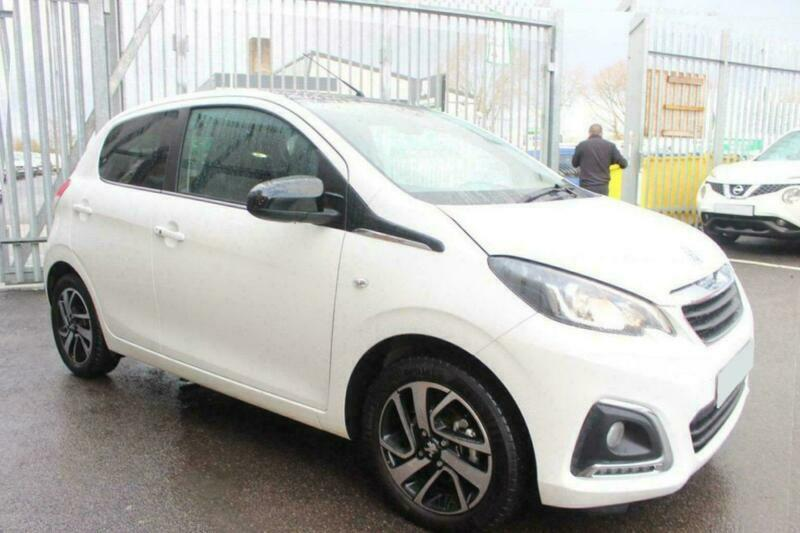 2019 WHITE PEUGEOT 108 1.0 ALLURE PETROL AUTO 5DR HATCH CAR FINANCE FR £153 PCM