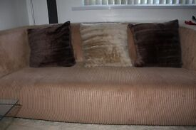 IKEA jumbo cord beige/natural color pair of 3 seater sofas in brilliant condition.
