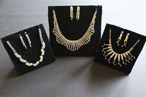 Rhinestone Necklace Sets - $10 Each
