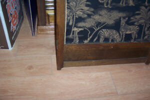 Antique Arts and Crafts room divider: three-piece screen London Ontario image 5