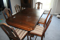 Antique dining room table (chairs are sold)