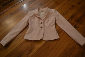 Pink Pinstripe Blazer from RW&Co. - Size XS Peterborough Peterborough Area image 1