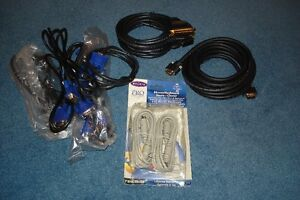 VGA, Printer & keyboard/mouse (extension) cables