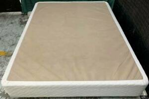 Excellent white color queen bed base only for sale. Pick up or deliver