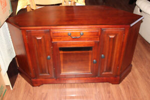 Solid Cherry Wood TV Cabinet