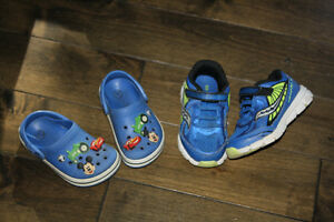 Boys Saucony & Crocs toddler shoes-2 for 1 price!